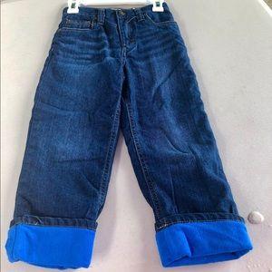 Fully Lined Fleece Denim Jeans